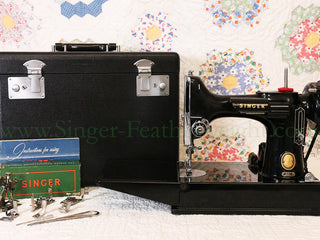 Load image into Gallery viewer, Singer Featherweight 221 Sewing Machine, AM161***