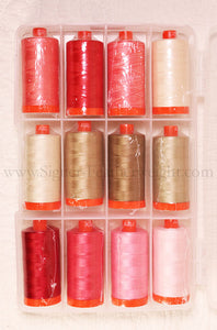 Aurifil Thread 50wt Cotton, SEW IN LOVE 12 Color SET - Edyta Sitar Laundry Basket Quilts