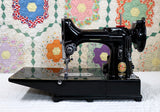 "Singer Featherweight 222K Sewing Machine, RED ""S"" EP5432**"