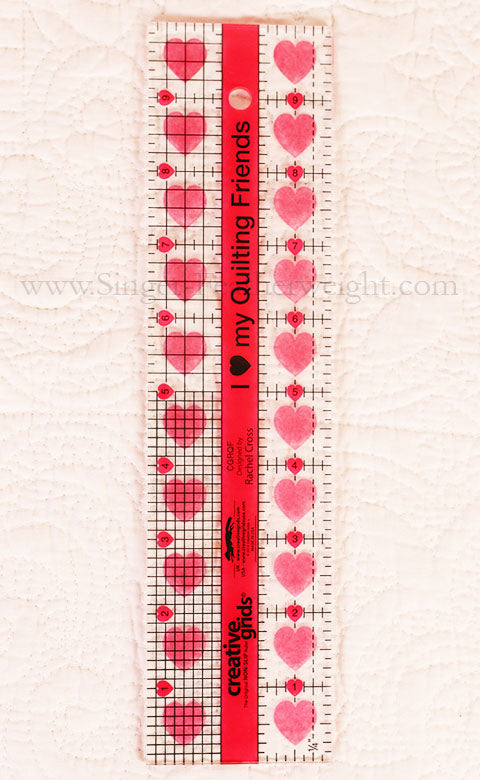 Cutting Ruler I Quot Heart Quot My Quilty Friends Creative