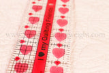 "Cutting Ruler, I ""Heart"" My Quilty Friends - CREATIVE GRIDS 10"" x 2 1/2"" (with self-grips)"