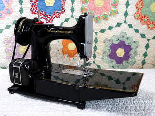 "Load image into Gallery viewer, Singer Featherweight 222K Sewing Machine, RED ""S"" EP5428**"
