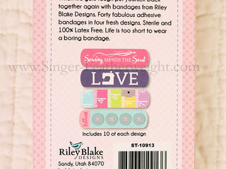 "Load image into Gallery viewer, Bandages, by Riley Blake Designs ""Sewing Mends The Soul"""