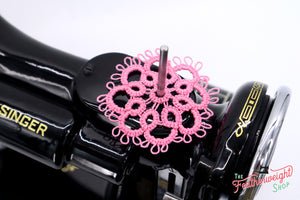 Spool Pin Doily - TATTED