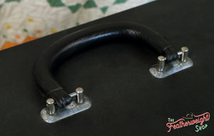 Case Handle, Black Leather with Pins