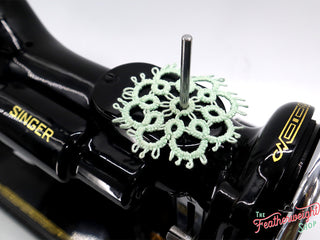 Load image into Gallery viewer, Spool Pin Doily - TATTED