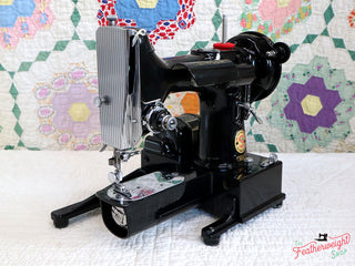 "Load image into Gallery viewer, Singer Featherweight 222K Sewing Machine, RED ""S"" EP759***"