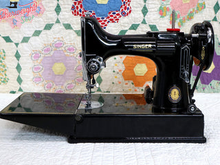 Load image into Gallery viewer, Singer Featherweight 221 Sewing Machine, Centennial: AJ791***