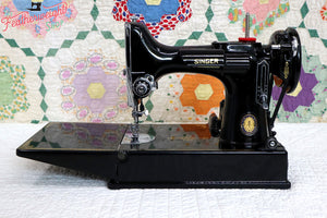 Singer Featherweight 221 Sewing Machine, Centennial: AJ791***