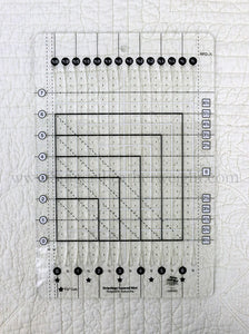 Cutting Ruler, CREATIVE GRIDS STRIPOLOGY SQUARED MINI (with self-grips)
