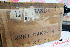 Cardboard Singer Box for 222K Featherweight - (Vintage Original Box Only)