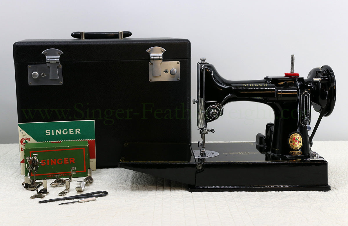 Singer Featherweight 221K Sewing Machine RED