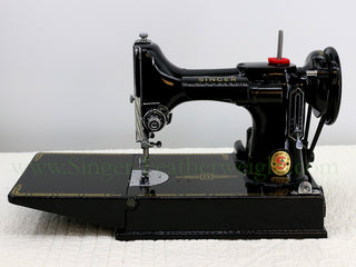 "Load image into Gallery viewer, Singer Featherweight 221K Sewing Machine RED ""S"" ES170***"