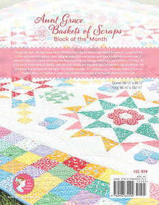 PATTERN BOOK, Aunt Grace Baskets of Scraps Block of the Month
