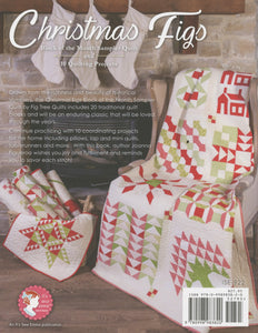PATTERN BOOK, Christmas Figs Block of the Month Sampler Quilt by Fig Tree & Co.