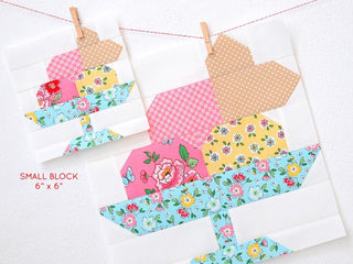 Load image into Gallery viewer, Pattern, Ice Cream Sundae Quilt Block by Ellis & Higgs (digital download)
