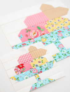 Pattern, Ice Cream Sundae Quilt Block by Ellis & Higgs (digital download)
