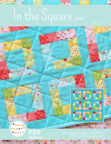Pattern, In The Square MINI Quilt (digital download)