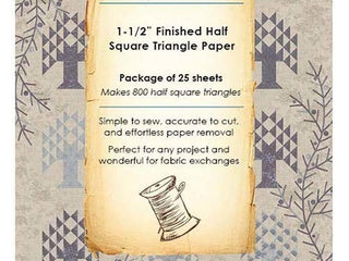 "Load image into Gallery viewer, PATTERN  - Laundry Basket Quilts Paper Piecing Sheets - 1 1/2"" HALF SQUARE TRIANGLE"