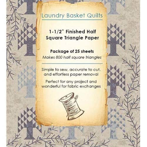 PATTERN  - Laundry Basket Quilts Paper Piecing Sheets - 1 1/2