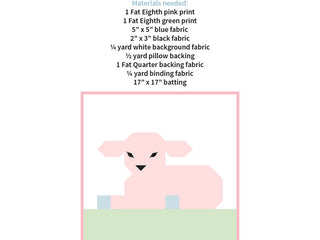 Load image into Gallery viewer, Pattern, Little Lambkin Pillow Cover / MINI Quilt by Ellis & Higgs (digital download)