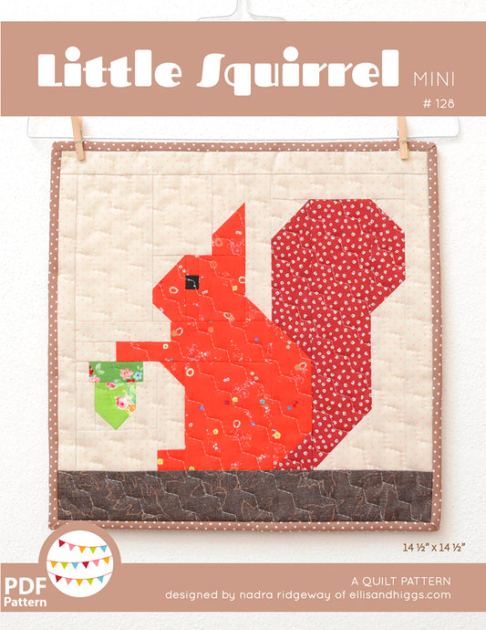 Pattern, Little Squirrel MINI Quilt by Ellis & Higgs (digital download)