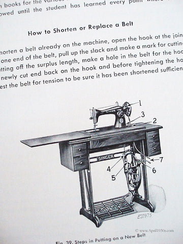 Singer Teacher's Textbook Machine Sewing Book 40 The Singer Mesmerizing How To Use A Sewing Machine Book