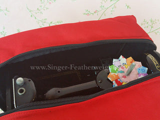 Load image into Gallery viewer, Bag, PADDED Carrying Singer Featherweight 221 222K Canvas Bag