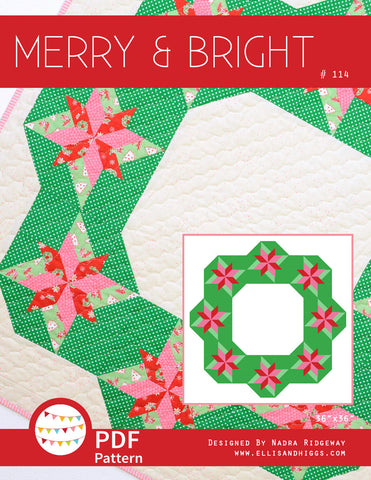 Pattern, Merry & Bright MINI Quilt (digital download)