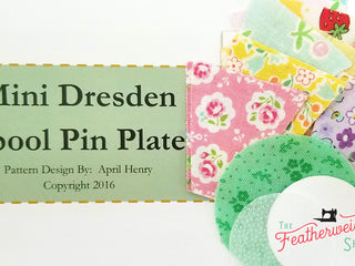 Load image into Gallery viewer, DRESDEN Spool Pin Kit, Pattern + Diecut CHRISTMAS Fabric Pieces for Featherweight Thread Spool