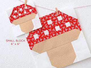 Load image into Gallery viewer, Pattern, Mushroom Quilt Block by Ellis & Higgs (digital download)