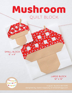 Pattern, Mushroom Quilt Block by Ellis & Higgs (digital download)