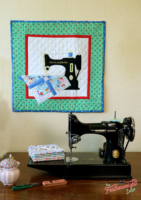 PATTERN, MY OTHER MACHINE Wallhanging by Sue Pritt (featuring the Singer Featherweight)