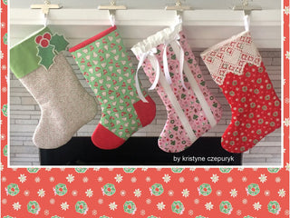 Load image into Gallery viewer, PATTERN, SOMETHING FOR EVERYONE CHRISTMAST STOCKING by Kristyne Czepuryk Pretty by Hand