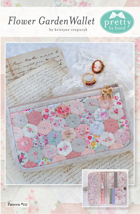 PATTERN, FLOWER GARDEN WALLET Zippered Pouch by Kristyne Czepuryk Pretty by Hand
