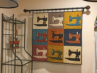 "Load image into Gallery viewer, PATTERN, ""Flock of Singers"" Wall-Hanging Quilt"