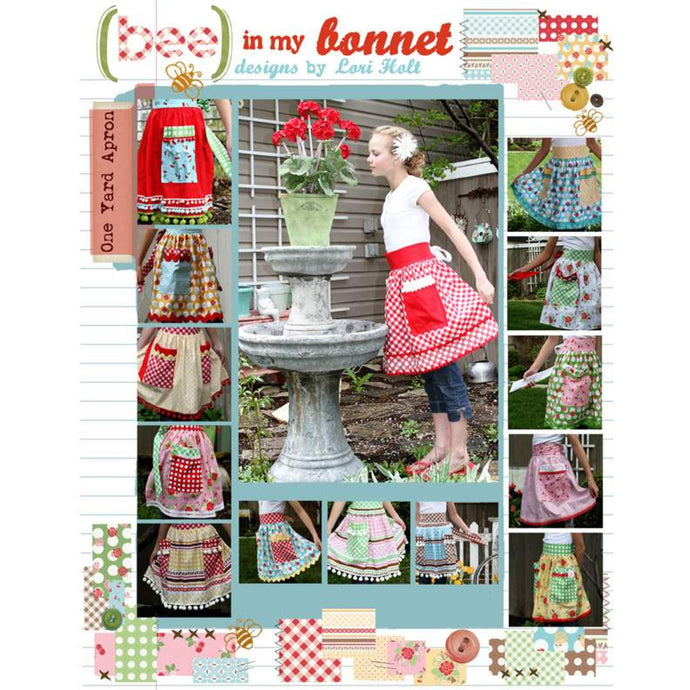 PATTERN BOOKLET, Bee in my Bonnet One Yard Apron Pattern by Lori Holt