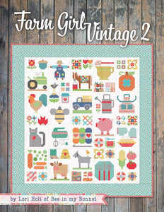 PATTERN BOOK, Farm Girl Vintage 2 by Lori Holt - 2019 Publication