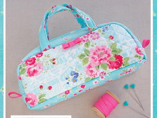 "Load image into Gallery viewer, PATTERN, ""Pamela Pouch"" Small Handled Bag by Kristyne Czepuryk Pretty by Hand"