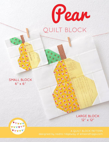 Pattern, Pear Quilt Block by Ellis & Higgs (digital download)
