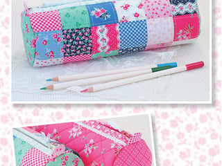 "Load image into Gallery viewer, PATTERN, ""Round Pencil Case"" by Kristyne Czepuryk Pretty by Hand"