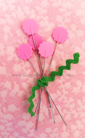 Flower Head Pins, PINK 100 Count
