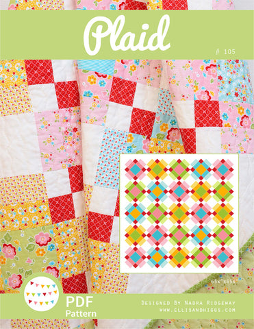 Pattern, Plaid Quilt (digital download)