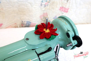 Spool Pin Doily - Poinsettia Flower