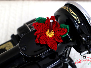 Load image into Gallery viewer, Spool Pin Doily - Poinsettia Flower