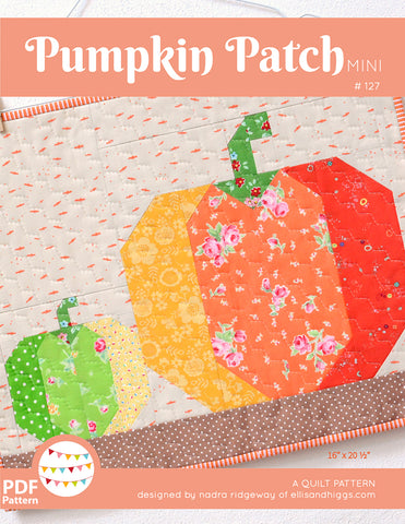 Pattern, Pumpkin Patch MINI Quilt (digital download)