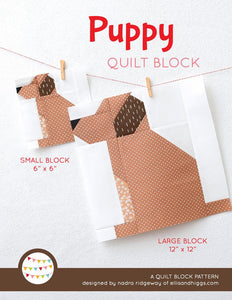 Pattern, Puppy Dog Quilt Block by Ellis & Higgs (digital download)