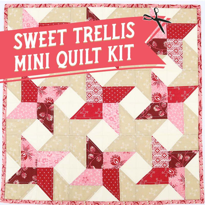 KIT, Sweet Trellis Mini Quilt & Pattern