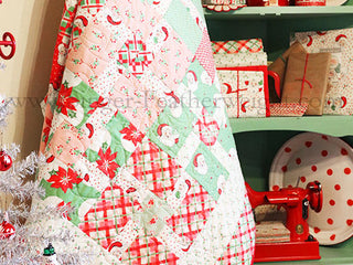 "Load image into Gallery viewer, Quilt Kit, ""Swell Christmas Packages & Bows"" - Urban Chiks by Moda Fabrics"