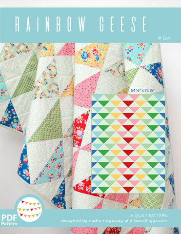 Pattern, Rainbow Geese Quilt (digital download)